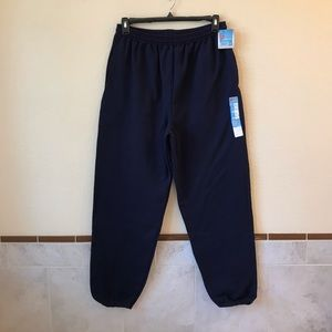 Hanes Premium Mens NEW Navy Sweatpants Pockets